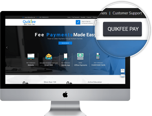 Pay through Quikfee button
